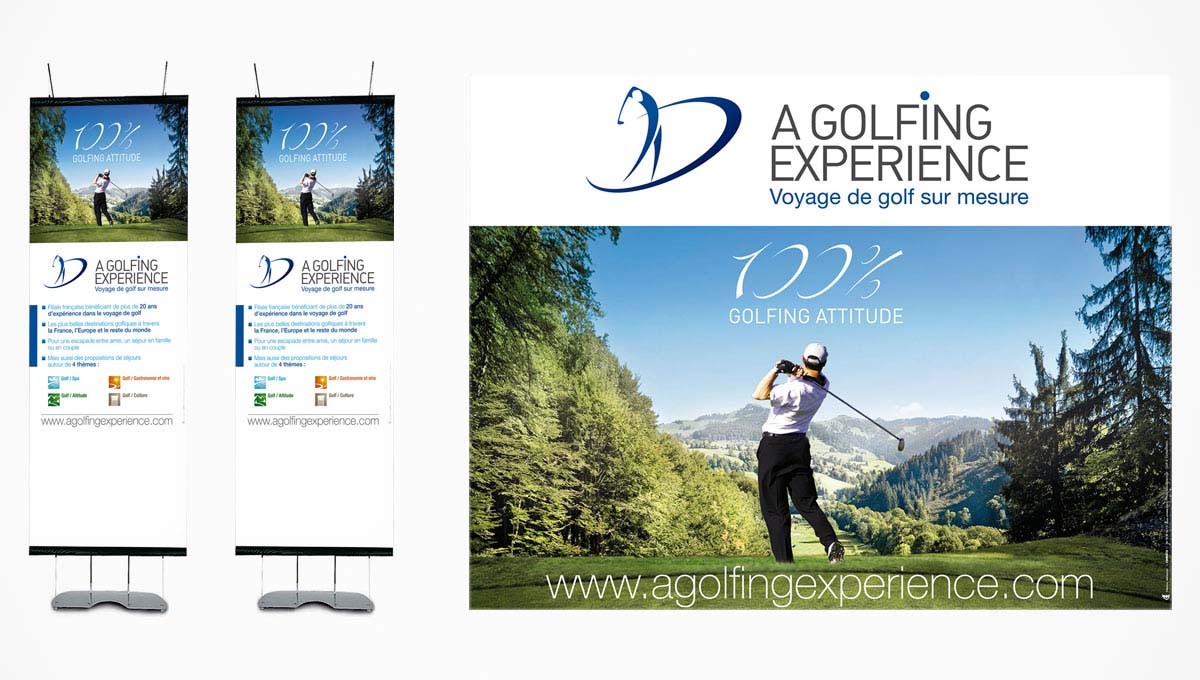 A Golfing Experience - Kakemono - Posters - A Golfing Experience
