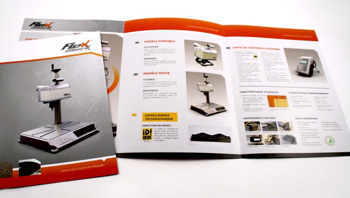 Bekannt Plaquette 3 volets - Flexmark / Book de création et de production  OR36