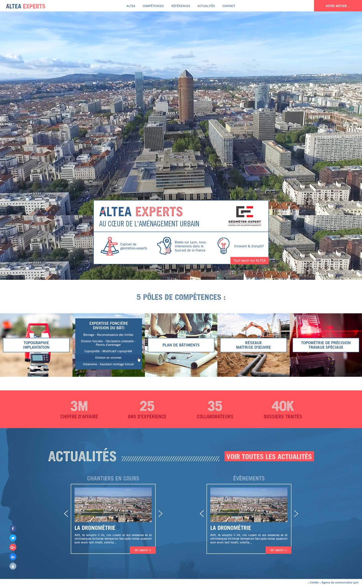 Agence Comete création altea-creation-site-internet-batiment :  pour ALTEA EXPERTS