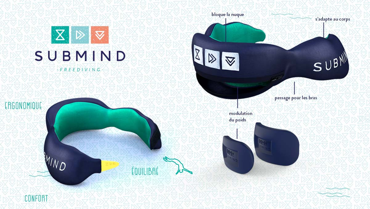 SUBMIND Freediving - Plomb de cou 3D - SUBMIND Freediving
