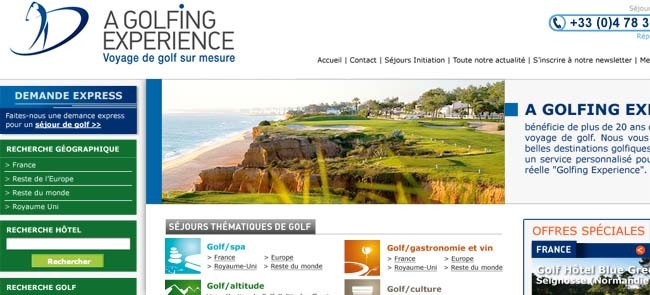 a golfing experience site