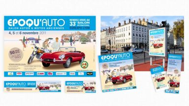 Agence communication Comete - création Campagne de communication 2011 Lyon Epoqu'Auto - campagne 2011